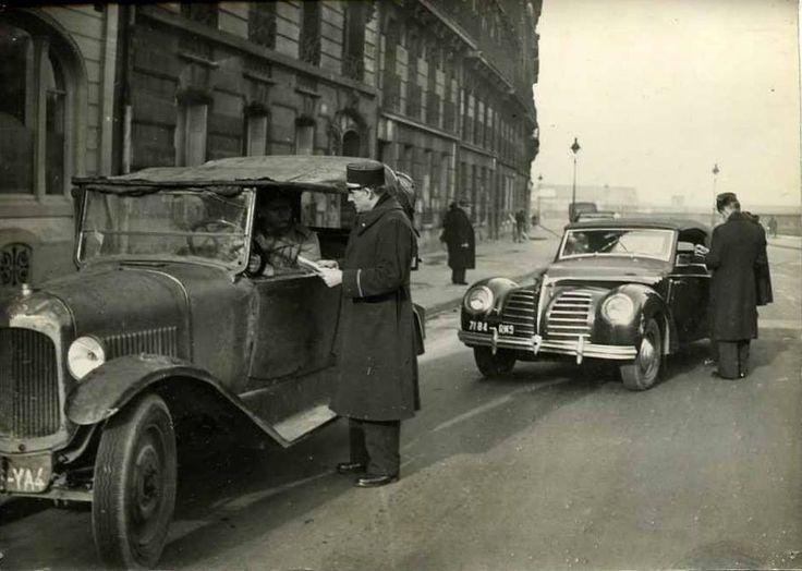 PARIS, en 1948 Contrôle des automobilistes