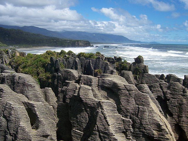 Pancake rocks Punakaiki New Zealand. One of our 8 South Island trips #travelbucketlist #travel #newzealand