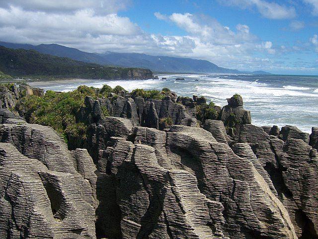 Pancake rocks Punakaiki New Zealand. One of our 8 South Island trips #travelbucketlist #travel #newzealand