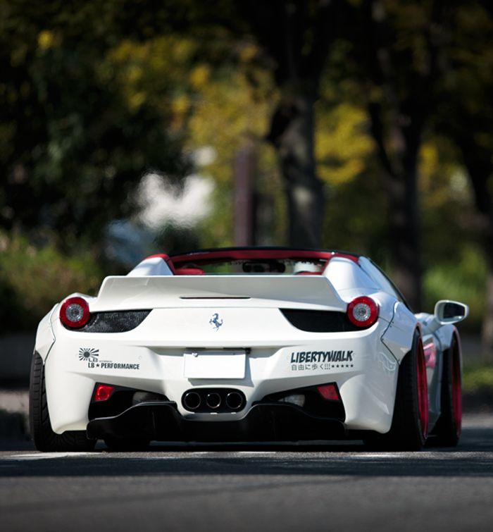 Ferrari 458 Spider liberty walk                                                                                                                                                                                 More