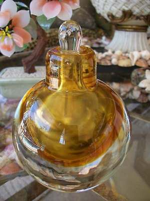 """STUDIO ART GLASS SCENT PARFUM ambre style paperweight BOUTEILLE clair 5 """"de haut"""