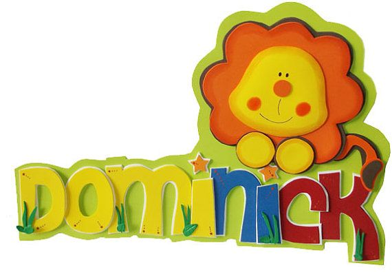 3D Foamie Wall Decor  BABY LION  Personalized  by FofuchasDolls, $20.00