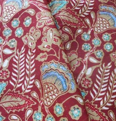 Natural Color Silk Batik – Little Butterfly & Flower Motif