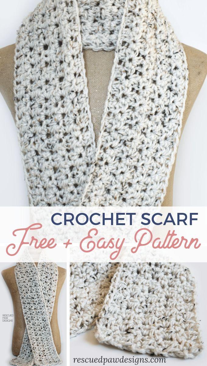 Free Crochet Scarf Pattern Easy Crochet Crochet Scarf Pattern Free Crochet Scarf Easy Scarf Crochet Pattern