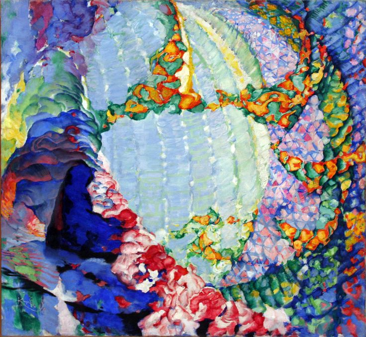 František Kupka (Czech, 1871-1957)Cosmic Spring 1 1913-14 oil on canvas. Trade Fair Palace, Prague/ Veletrzní palác, Praha