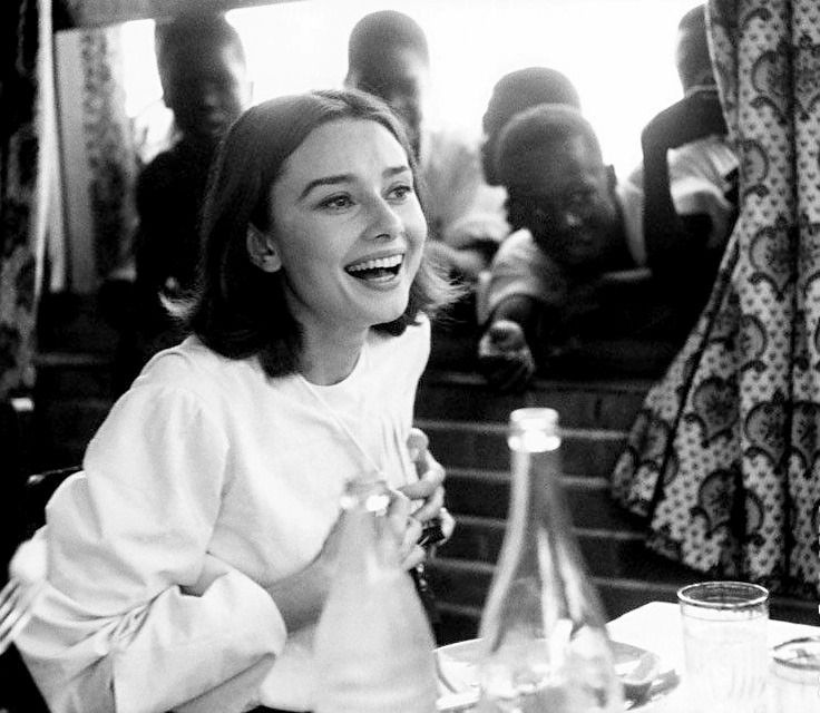 """wehadfacesthen: """" Audrey Hepburn, 1959, in the Belgian Congo for the filming of The Nun's Story """""""