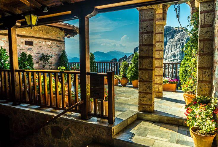 Pemandangan yang luar biasa indah ketika berada di Roussanou Monastery  photo by Francis  Roussanou Monastery, Italy