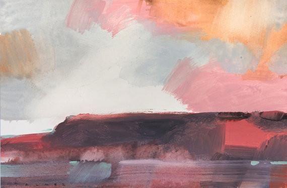 Original ' Magenta Landscape' by Simon Palmer