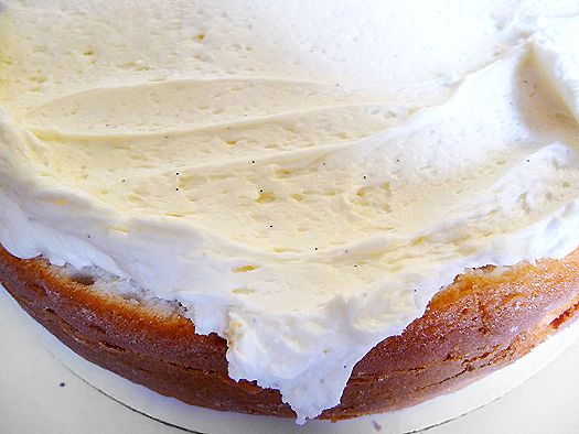 The best, fluffiest, easiest awesomely delicious vanilla bean buttercream ever.  It's gotta be the heavy cream.  This stuff is ethereal and doesn't form a crust.
