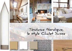 Moodboard - Déco, planche d'ambiance, tendance nordique, style Chalet Suisse, réalisation well-c-home