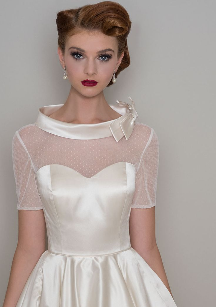 Stunning Gown and styling from Lou Lou Bride. Lou Lou is available at The Tailor's Cat, Cambridge 01223 366700