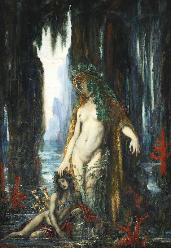 Gustav Moreau. Poet and Siren.