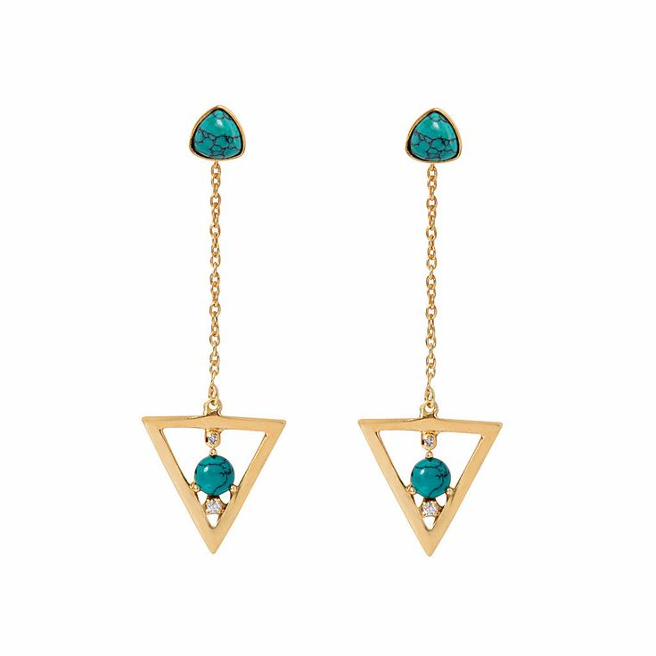 Talitha Drop Earring / Turquoise from D A M S E L F L Y