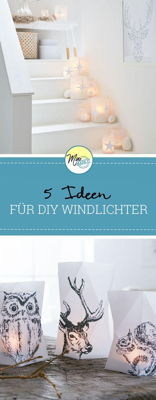 Zauberhafte Ideen zum Windlicht basteln