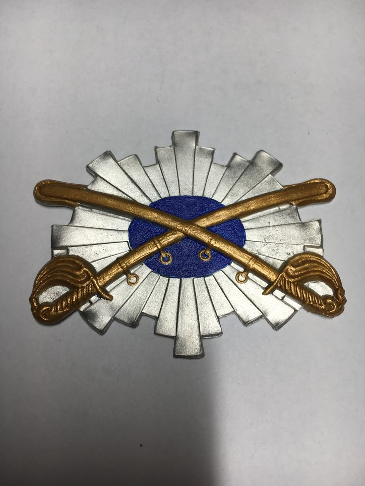Reproduction Cavalry Corps Veterans Badge Handmade and Hand Painted by The Badge Maker   www.civilwarcorpsbadges.com
