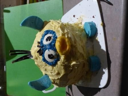 Furby cake - kids thought it was a cool furby (adults see an alien duck)... #nevergrowup