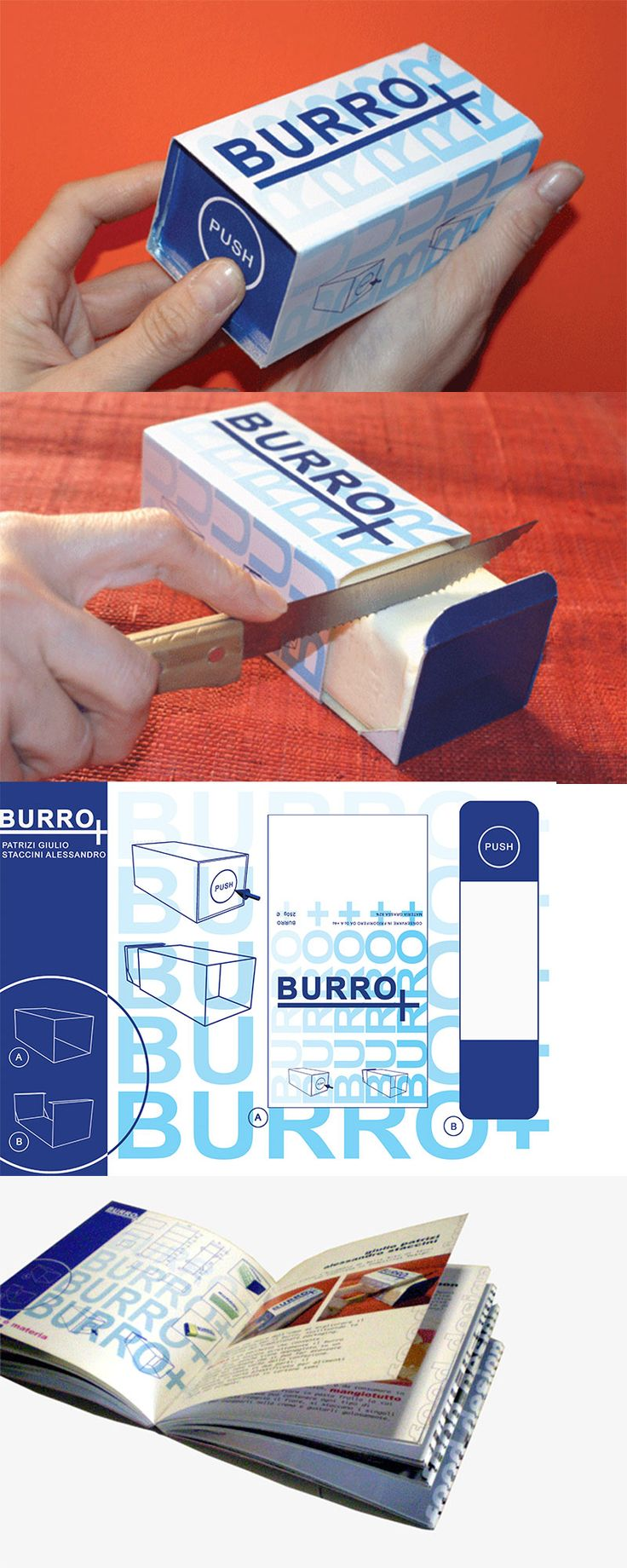 Burro+, Packaging Design ─ Giulio Patrizi Design Agency ©   #packaging #coffee #design