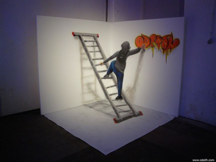 Best ODEITH Images On Pinterest Graffiti Murals Street Art - Incredible forced perspective graffiti artist odeith