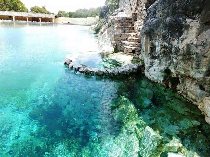 Manantial de aguas sulfurosas, Tamazulapan del Progreso Oaxaca, Mexico                                                                                                                                                                                 More