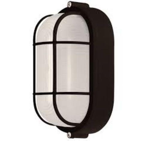 Murale ou plafonnier noir recouvert d'une grille de protection s'installant autant à l'intérieur qu'à l'extérieur. Idéal pour les garde-robes et/ou petit rangement puisque ce produit respecte les critères de sécurité exigés pour ces endroits.