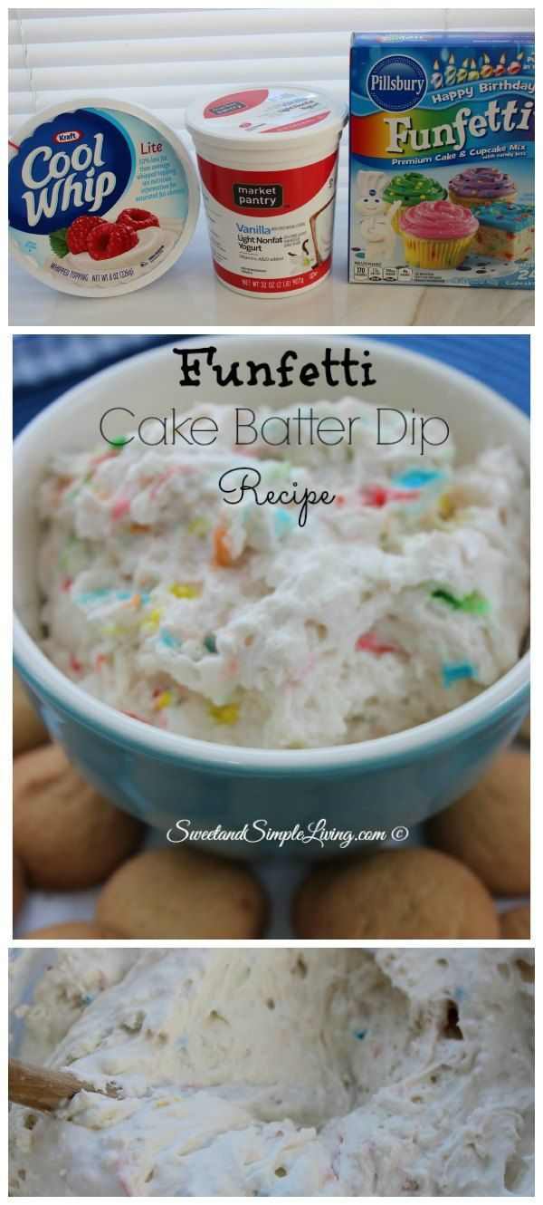 Easy Funfetti Cake Batter Dip Recipe | takes 5 min!♡
