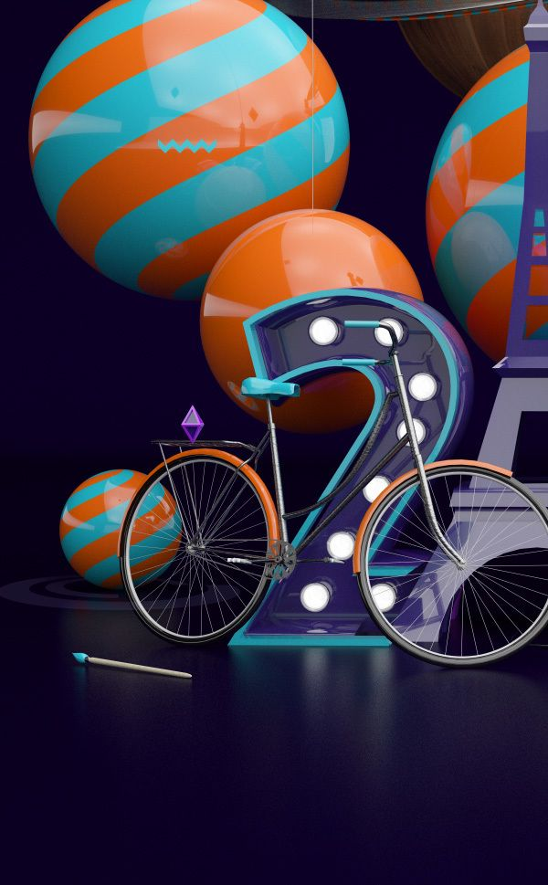 Works Jan 2014 by rdn on Behance (Cinema 4D and Photoshop)