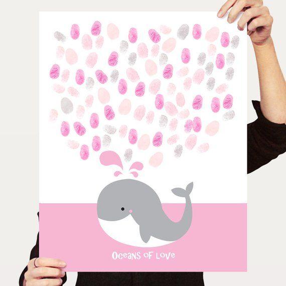 animal art beach nursery art whale nursery nautical baby shower whale signature guest book baby shower or birthday print sea nursery