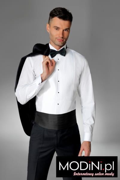 Biała koszula smokingowa SLIM Kastor
