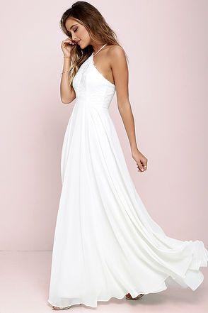 Everlasting Enchantment Ivory Maxi Dress at Lulus.com!