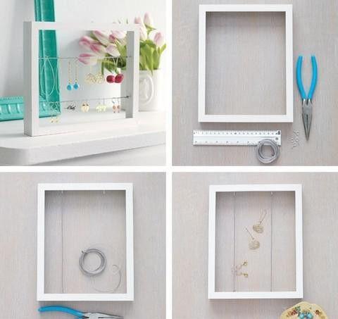 les 25 meilleures id es concernant rangement de bijoux sur pinterest porte collier. Black Bedroom Furniture Sets. Home Design Ideas