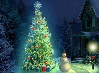 Christmas Lights - Interactive Christmas Snowman Card