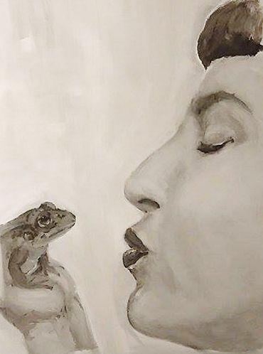 Francuski pocałunek - Malarstwo ©2016 przez Olga Sznejder -