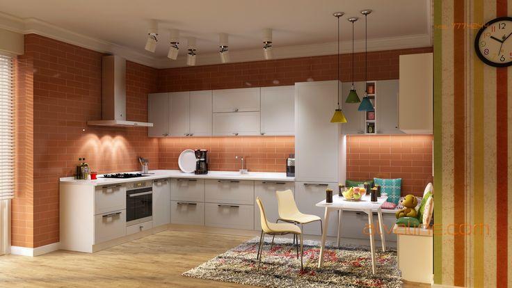 Лаконичная и современная кухня а-ля Икеа, модель Бостон от ALVA
