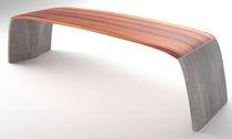 design public bench in wood and concrete SWILKEN BENCH Acronym Designs