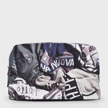 Paul Smith Men's Bags - 'Cycling Jerseys' Print Wash Bag