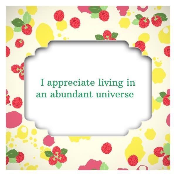 Affirmation Card: #appreciation #abundance #universe #ThoughtfulApp