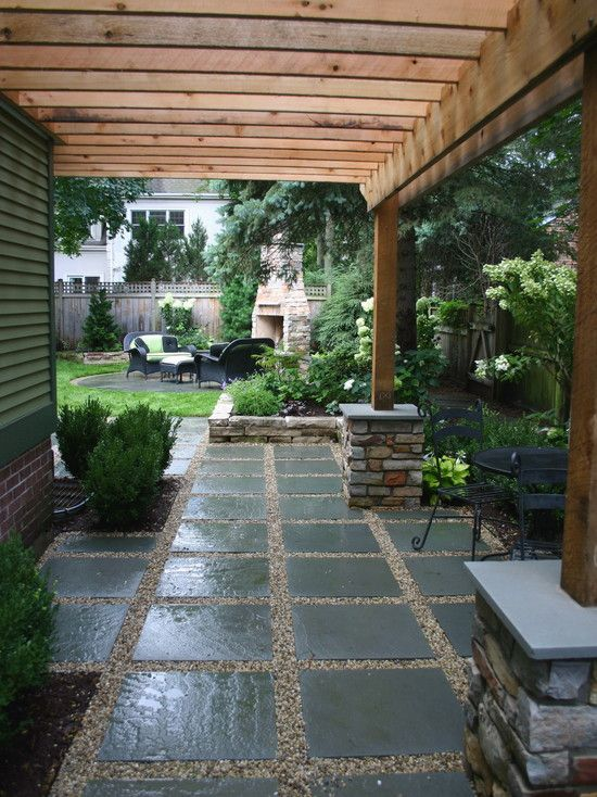 I have this layout at the end of my garden.  It may be time to replace the shingle for new to give it a facelift.