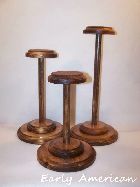 Set di 3 stand cappello legno massello di vintagehatbox su Etsy