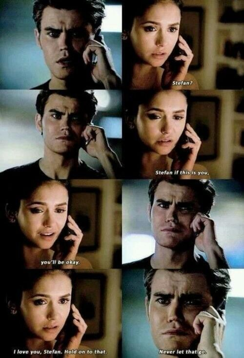 """""""I love you, Stefan. Hold on to that. Never let that go."""" #TVD #Stelena pic.twitter.com/RL2Hl4WQPg"""