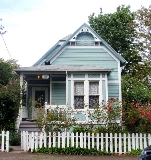 Blue aqua Victorian cottage...J.F. Lawler historic home | Flickr - Photo Sharing!