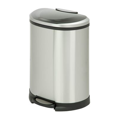 Honey Can Do TRS-05306 50L Half Moon Step Trash Can