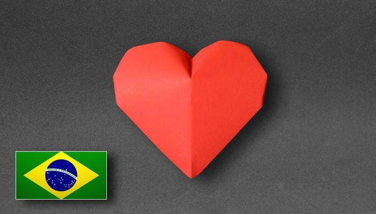 Origami: Coração Inflável ( Jeremy Shafer ) - Instruções em Português PT BR