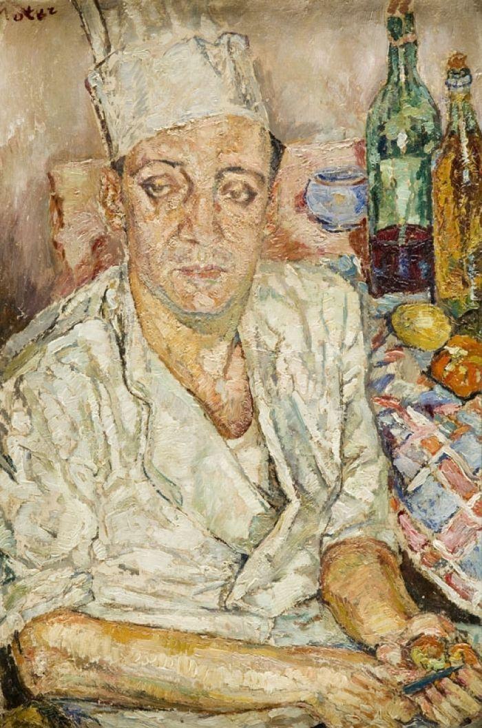 Mela (Maria Melania) Muter (Mutermilch) - Portret kucharza Emile'a Verdet, lata 40. XX w.