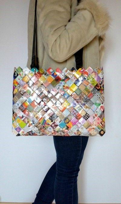 Les 25 meilleures id es de la cat gorie sac en origami sur pinterest bo tes d 39 origami sac de - Fabriquer un sac en papier magazine ...