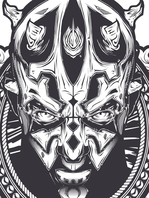 ☆ Illustration Graphic Design Art Poster Darth Maul -Detail- Artist Joshua Smith -aka. Hydro 74- ☆