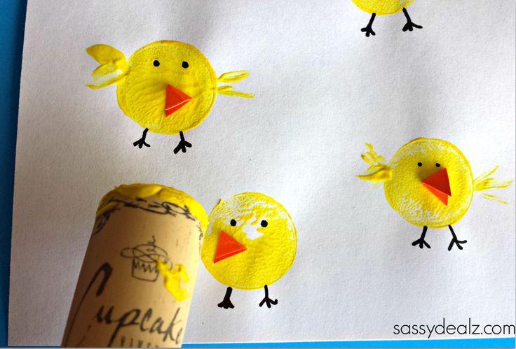 wine cork chicks craft