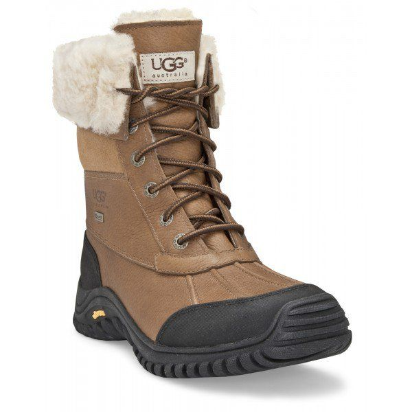Breathable eVent® bootie, removable/replaceable sheepskin insole, and UGG®-exclusive Vibram® outsole stand up to snowy weather in unsurpassed style.