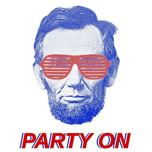 4th Of July Abe Lincoln T-Shirt Show off your love for America's birthday with this vintage style party on tee. Cut off the sleeves and party like it's 1776! TShirt & Apparel - 4TH Of July Abe Lincoln