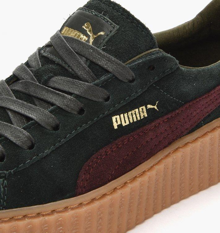 Puma Creepers Kaki Et Bordeaux