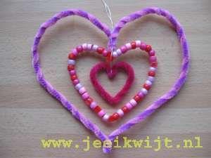 Valentijn hart van kralen